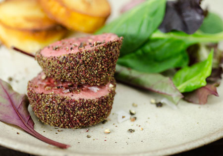 Beef Fillet with Seagreens and Wild Sumac Crust